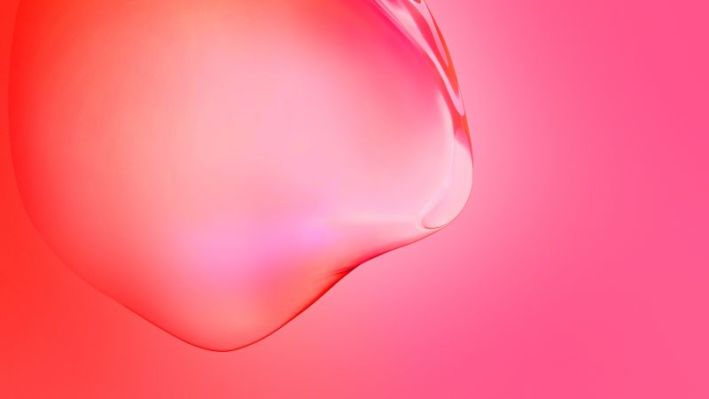 Samsung Galaxy S11, Red, Bubble, Gradients, Stock, Wallpaper
