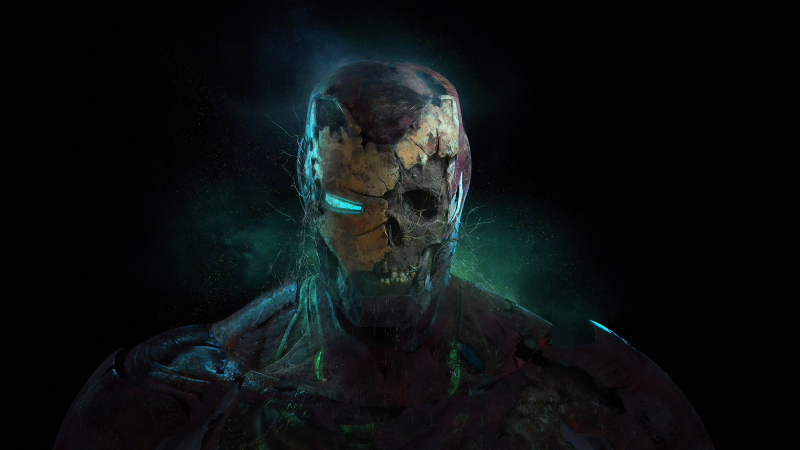 Iron Man, Zombie, Spider-Man: Far From Home, Wallpaper