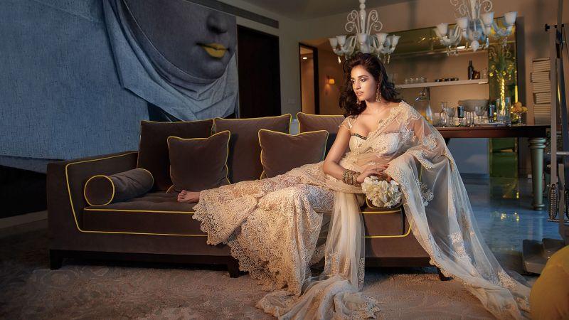 Disha Patani, Bollywood actress, Indian actress, Saree, Wallpaper