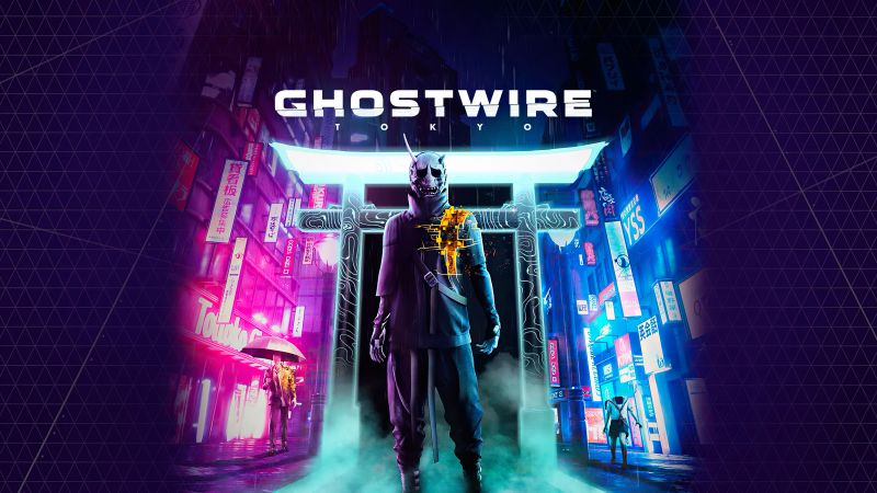 GhostWire: Tokyo, PlayStation 5, PC Games, 2021 Games, Wallpaper