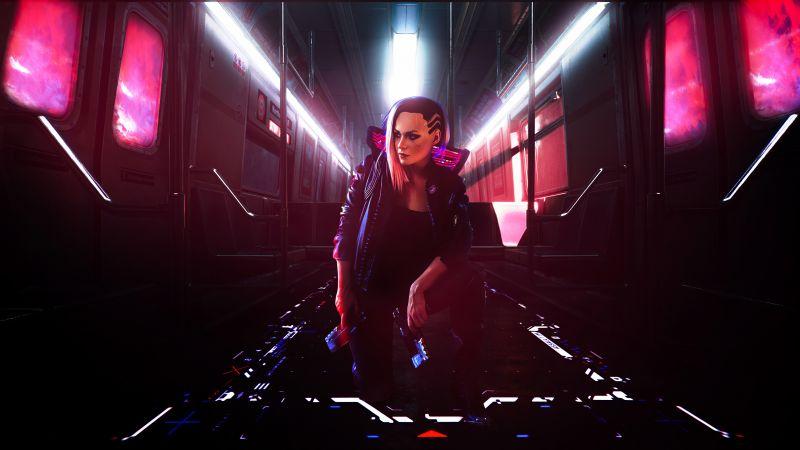 Female V, Cyberpunk 2077, Cyberpunk girl, Xbox Series X, Xbox One, PlayStation 4, Google Stadia, PC Games, 2020 Games, Wallpaper