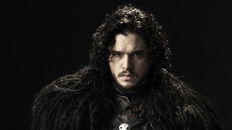Jon Snow, Kit Harington, Game of Thrones, HBO series, TV series, Black background, Wallpaper