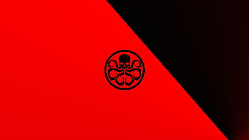 Hydra, Logo, Marvel Comics, Red, Wallpaper