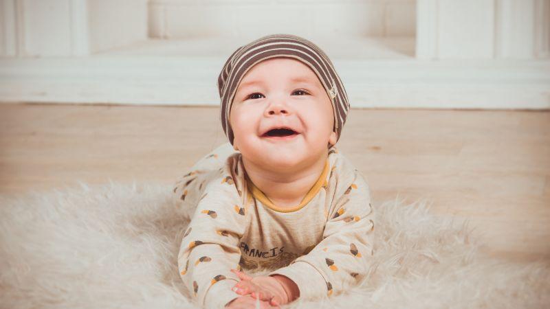 Cute boy, Smiling, Toddler, Cute child, 5K, Wallpaper
