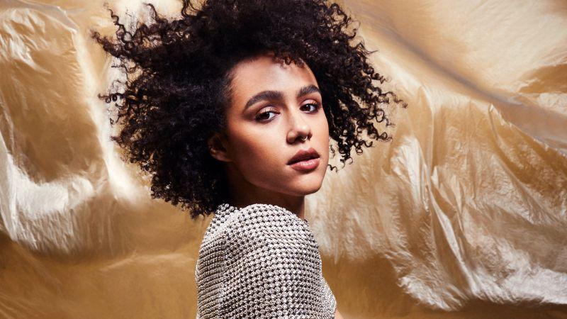 Nathalie Emmanuel, Portrait, ELLE, 2020, Wallpaper