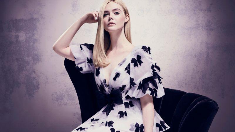 Elle Fanning, Portrait, Beautiful girl, Wallpaper