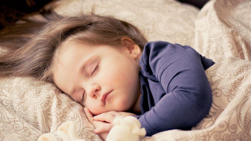 Cute Girl, Sleeping baby, Cute child, Adorable, 5K, Wallpaper