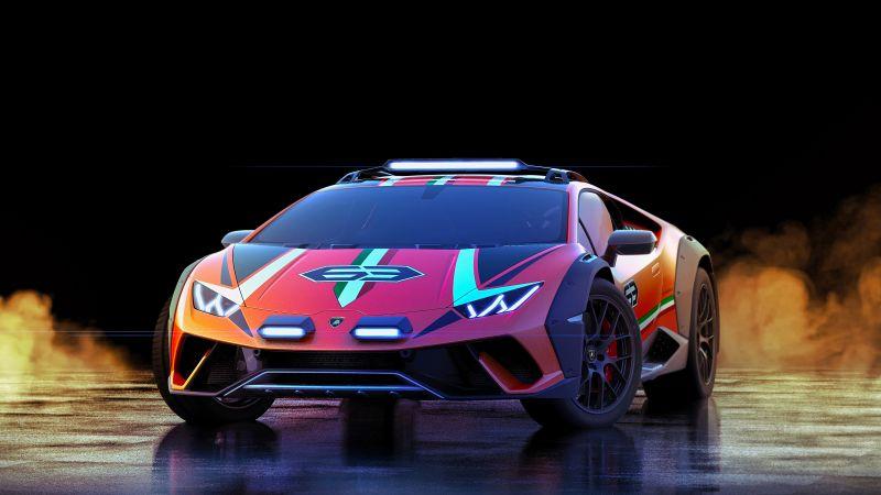 Lamborghini Huracan Sterrato, Off-road Racing, 5K, Wallpaper