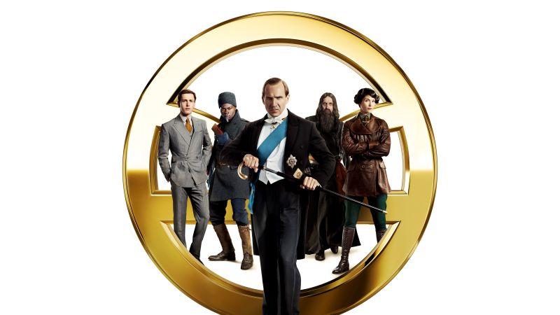 The King's Man, Ralph Fiennes, Djimon Hounsou, Rhys Ifans, Gemma Arterton, Harris Dickinson, 2020 Movies, Wallpaper
