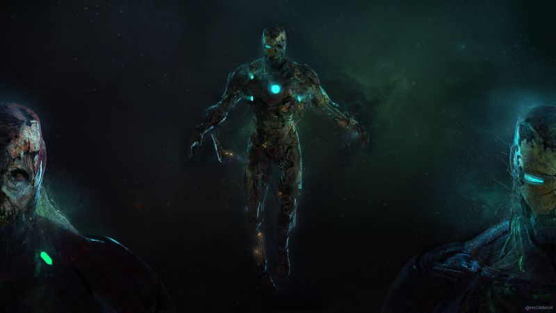 Iron Man, Zombies, Spider-Man: Far From Home, Wallpaper