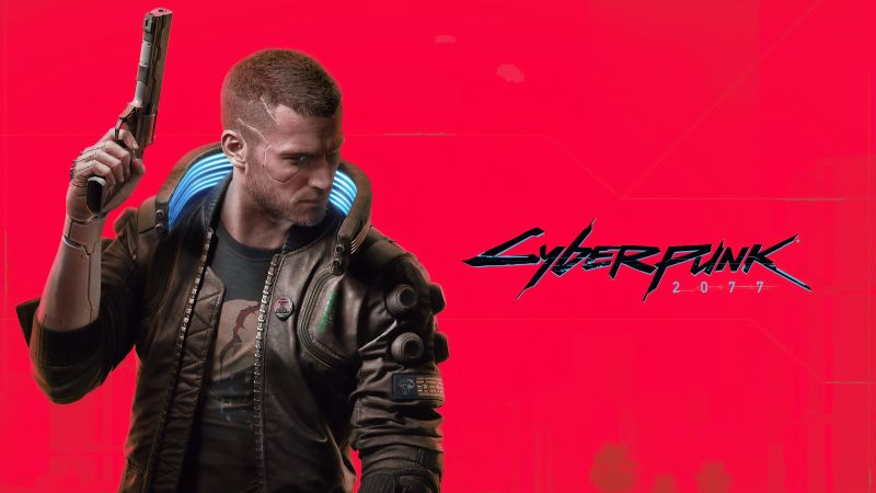 Cyberpunk 2077, Character V, Red background, Xbox Series X, Xbox One, PlayStation 4, Google Stadia, PC Games, 2020 Games, Wallpaper