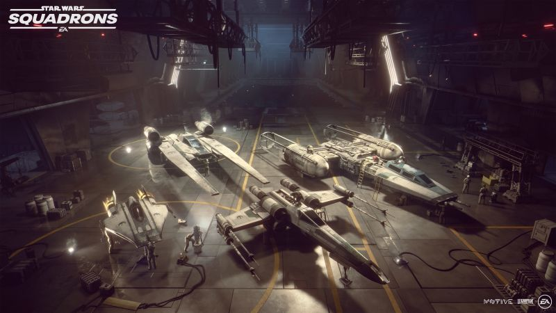 Star Wars: Squadrons, Hanger, PC Games, PlayStation 4, Xbox One, 2020 Games, Wallpaper