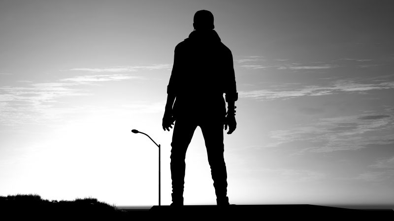 Watch Dogs 2, Man, Silhouette, Evening, Dark, 5K, 8K, Wallpaper