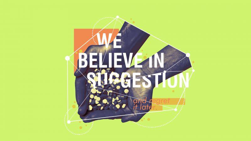 Believe, Suggestion, Regret, Green background, Wallpaper