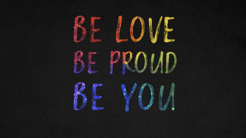 Be You, Be Love, Be Proud, Dark background, Inspirational quotes, Wallpaper
