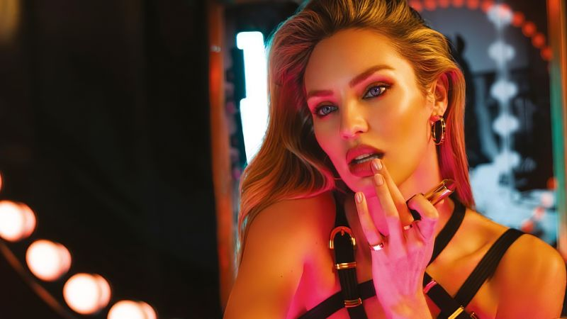 Candice Swanepoel, South African model, Makeup, Photoshoot, Wallpaper