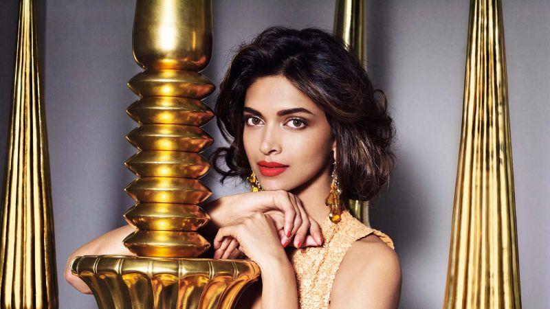 Deepika Padukone, Indian actress, Traditional, Portrait, Beautiful actress, 5K, Wallpaper