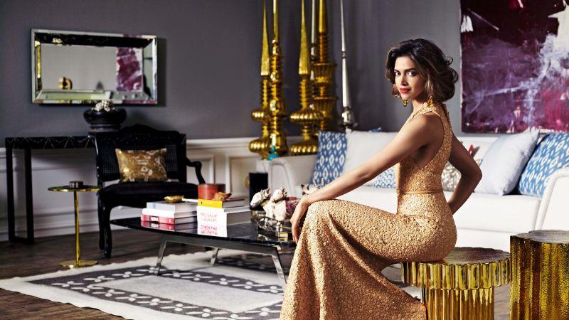 Deepika Padukone, Bollywood actress, Indian actress, Traditional, Portrait, Beautiful actress, 5K, 8K, Wallpaper
