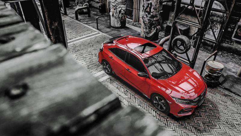 Honda Civic 220 Turbo Hatchback, 2020, 5K, Wallpaper