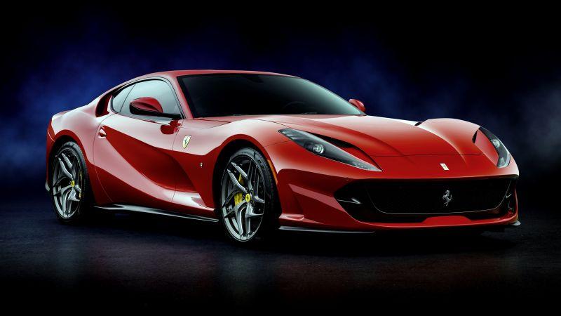 Ferrari 812 Superfast, Sports cars, 5K, 8K, Wallpaper