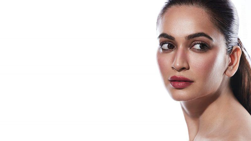 Kriti Kharbanda, Indian actress, White background, 5K, Wallpaper