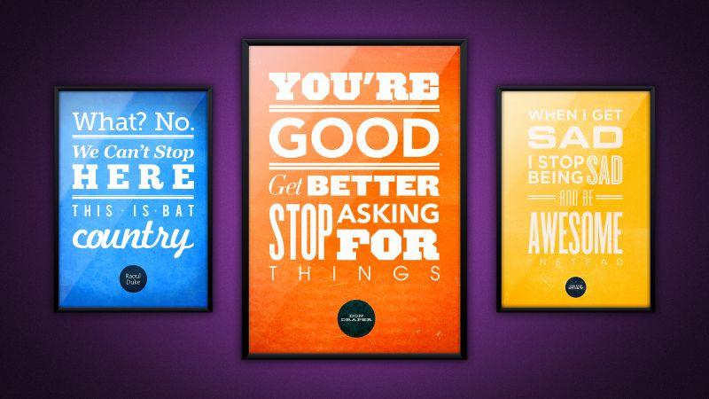 Popular quotes, Movie quotes, Wallpaper
