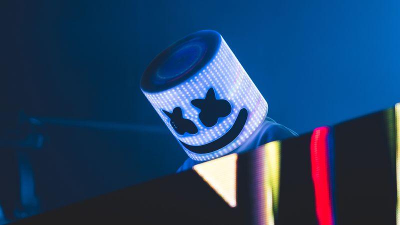Marshmello, American DJ, Live concert, 5K, Wallpaper