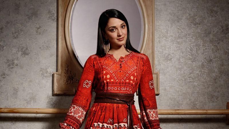 Kiara Advani, Bollywood actress, Indian actress, 5K, Wallpaper