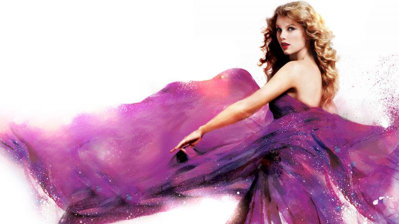 Taylor Swift, Speak Now, 5K, White background, Wallpaper
