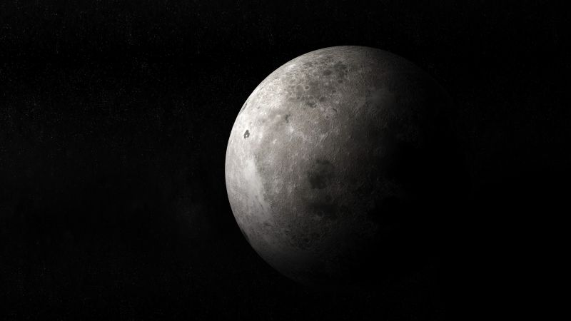 Moon, Black background, Space, Planet, Full moon, Wallpaper