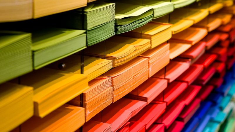 Back to School, Color Papers, Stationery, Multicolor, Colorful, 5K, Wallpaper