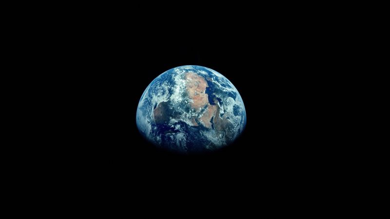 Earth, Space, Black background, Atmosphere, Blue planet, 5K, 8K, Wallpaper