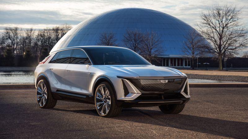 Cadillac Lyriq, Electric crossover, Electric cars, 2023, 5K, 8K, Wallpaper
