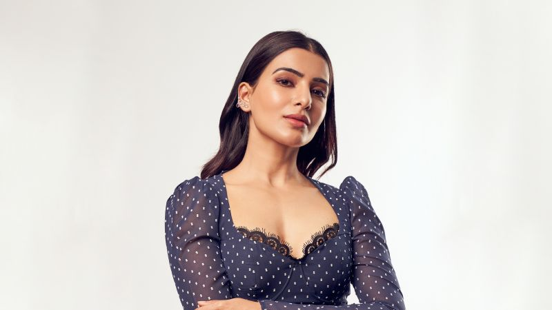 Samantha, Telugu Actress, Tamil actress, Indian actress, White background, Wallpaper