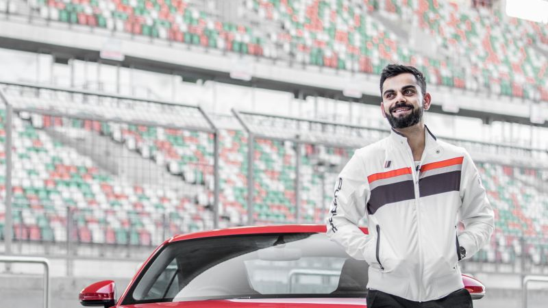 Virat Kohli, Indian cricketer, Audi TT, Wallpaper