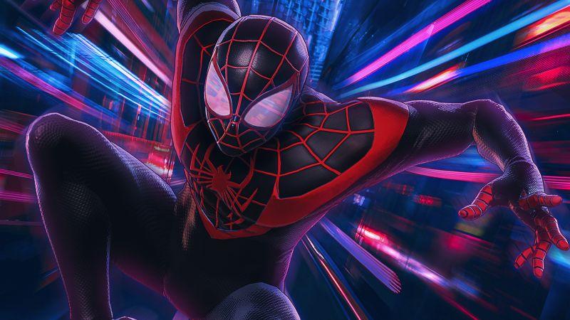 Spider-Man, Miles Morales, Spider-Man: Into the Spider-Verse, Marvel Superheroes, Wallpaper