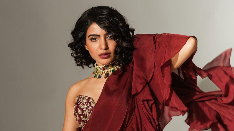 Samantha, Indian actress, Photoshoot, Wallpaper