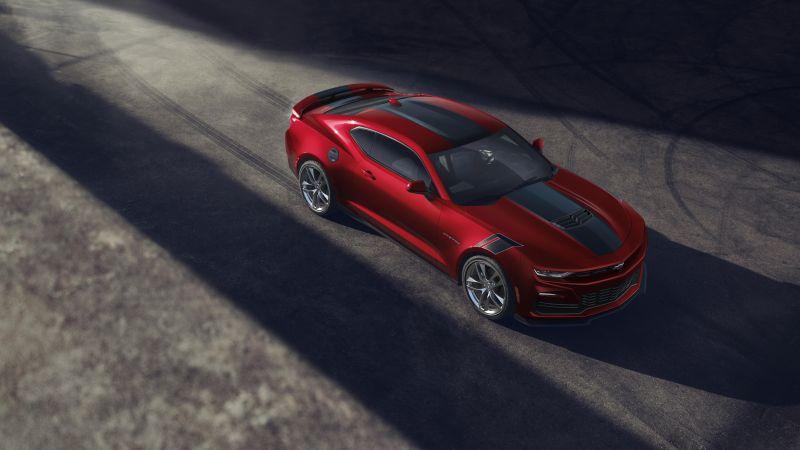 Chevrolet Camaro, Wild Cherry Design package, 2021, 5K, Wallpaper