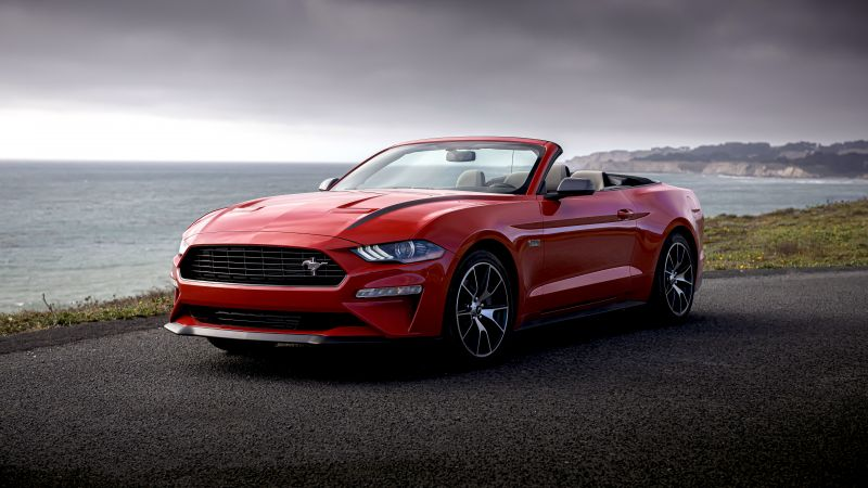 Ford Mustang Ecoboost, Convertible High Performance Package, 2020, 8K, Wallpaper