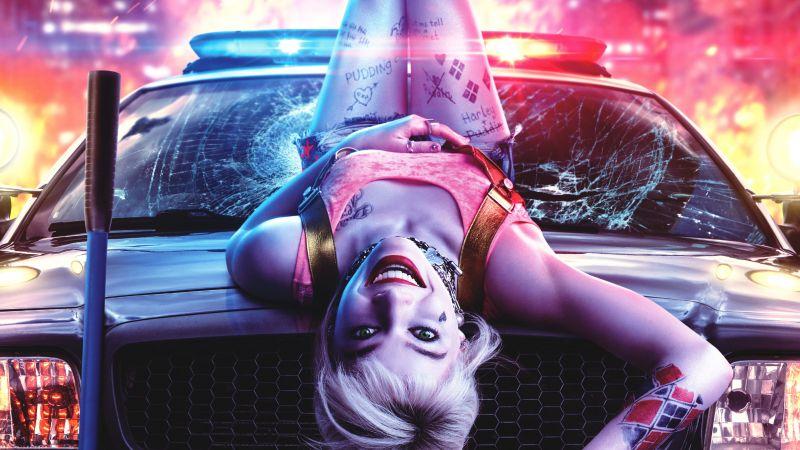 Harley Quinn, Birds of Prey, Margot Robbie, DC Comics, 2020, Wallpaper