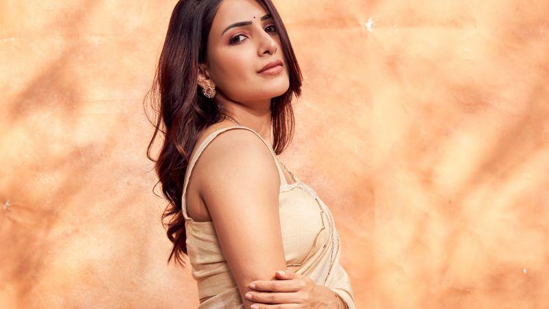 Samantha, Telugu Actress, Tamil actress, Indian actress, Saree, Wallpaper