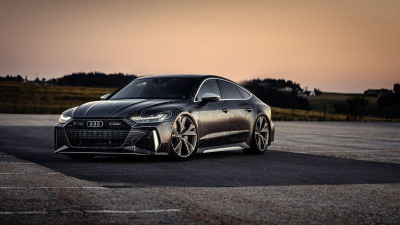 Audi RS 7 Sportback, Black Box-Richter, 2020, 5K, 8K, Wallpaper