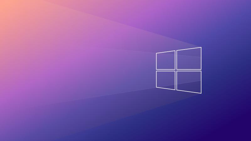 Windows 10, Gradient background, Minimal, Aesthetic, 5K, Wallpaper