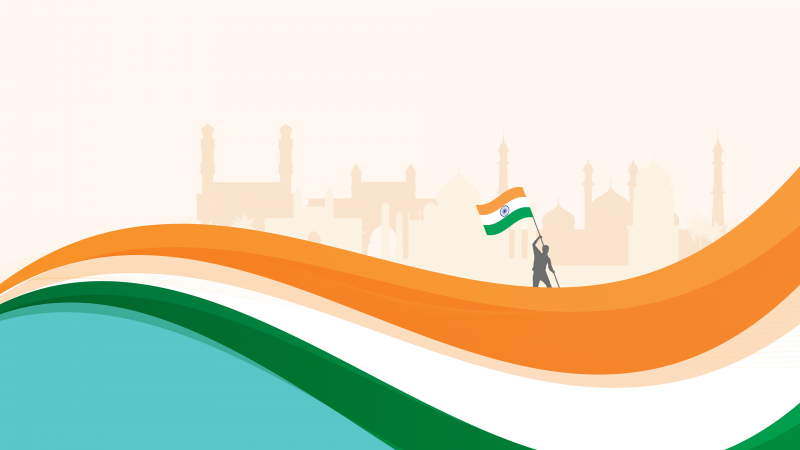 Indian Flag, Independence Day, India, August 15th, Tricolor, Red Fort, 5K, Wallpaper