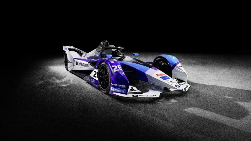 BMW iFE.20, Formula E racing car, Electric Race Cars, Black background, Wallpaper