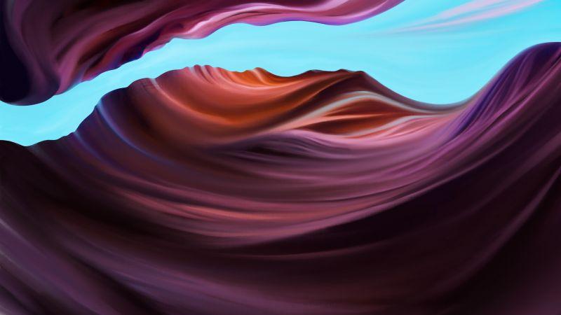 Antelope Canyon, Colorful, Artwork, 5K, Wallpaper