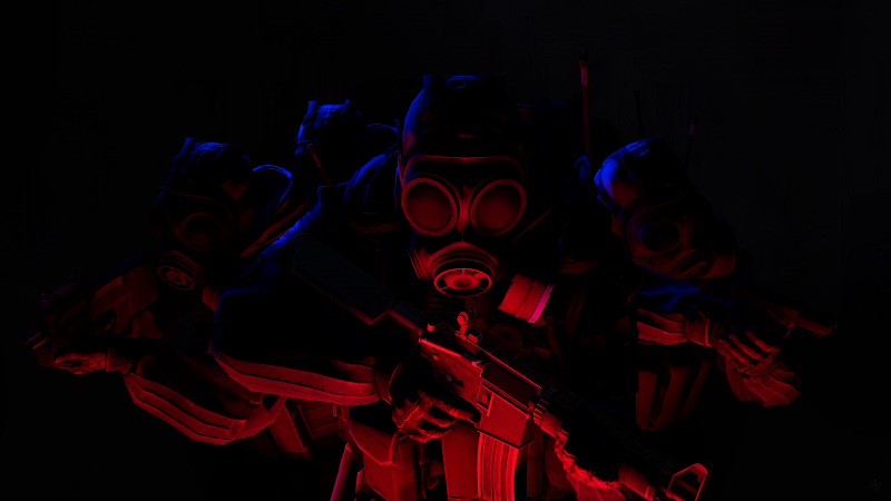 CS GO, Counter-Strike: Global Offensive, SAS Team, Black background, Wallpaper
