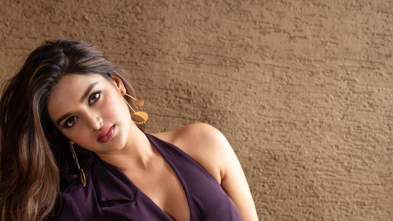 Nidhhi Agerwal, Indian actress, Telugu Actress, Wallpaper