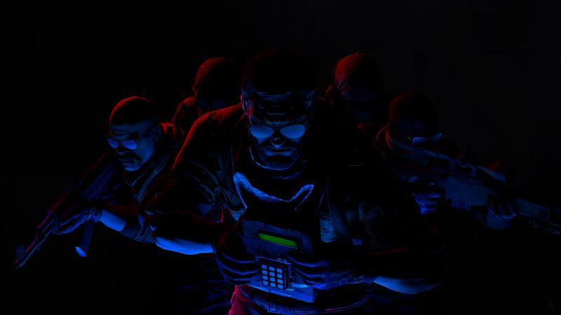 CS GO, Counter-Strike: Global Offensive, Elite Crew, Black background, AMOLED, Wallpaper