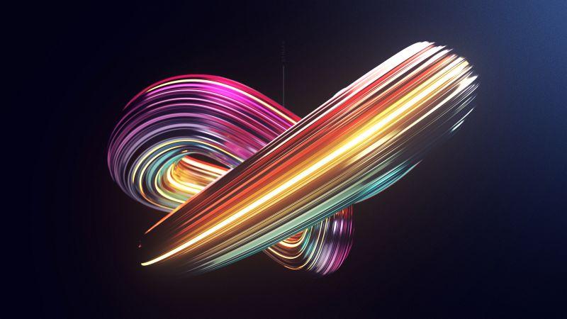 Swirls, Render, CGI, 3D, Wallpaper